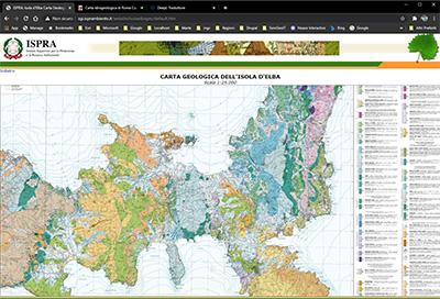 carta geologica isola d'elba