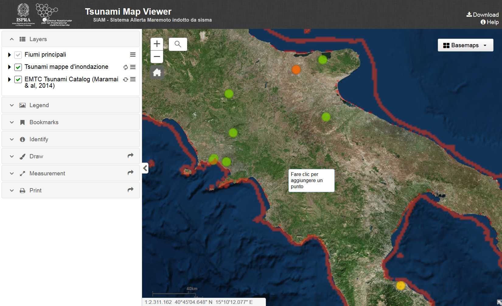 Tsunami Map Viewer