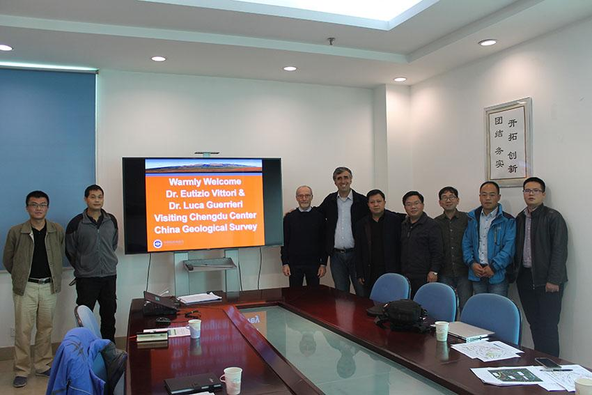 – Introductive meeting of the ISPRA visit at China Geological Survey, Chengdu, China.